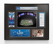 Super Bowl LIII (53) Ticket Frame - Patriots vs Rams