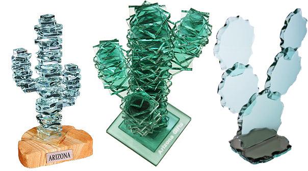 custom glass cactus