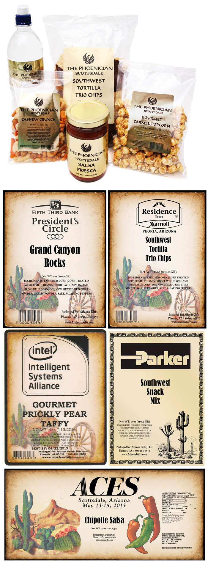 Private Label food, custom labels promotional items