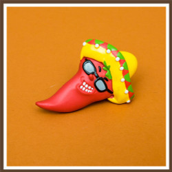 Sunglass Chili Pepper Magnet - Out-of-stock until ≈ March 1st