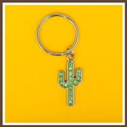 AZ Saguaro Sparkle Keychain
