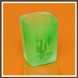 Green Square Shotglass