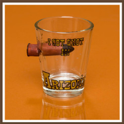 Bullet in Glass AZ Shotglass