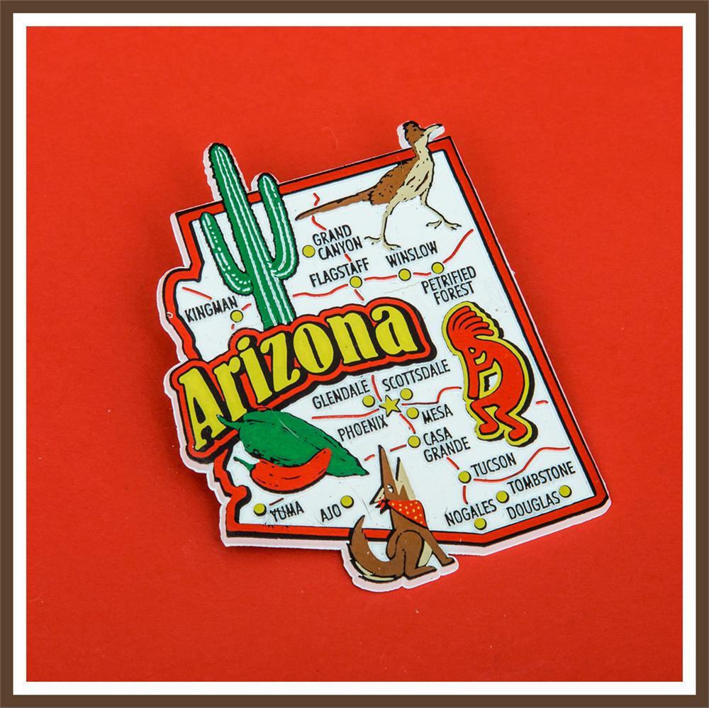Map Of Arizona 1858.Arizona Jumbo Map Magnet Arizona Gifts