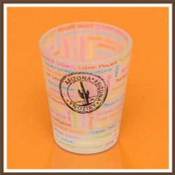 Frosted AZ Passport Stamp Shotglass