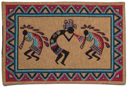Three Kokopellies Placemats, Set of 6