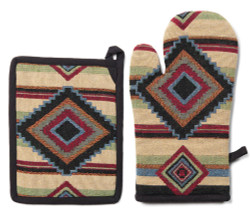 Chief Blanket Pot Holder and Oven Mit