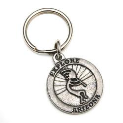 Pewter Kokopelli Keychain
