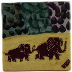 """Mara Tile 8""""X8"""" - Elephant"""