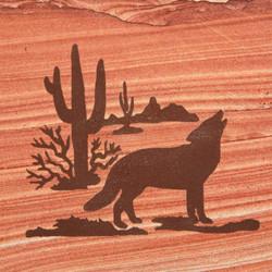 Cactus Scene w/ Coyote