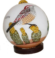 "AZ Cactus Wren - 3"" Ornament Set of 2"