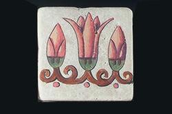 """Cactus Flower 3""""x3"""" Border Tile"""