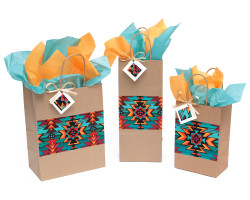 Native Fire Diamond Gift Bag
