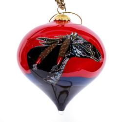"""Imagine - 3"""" Top Ornament Set of 2"""