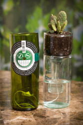 refresh glass, recycled wine bottles, upcycled glassware