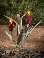 Bird of Paradise with Two Torches