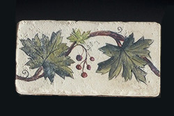 "Vine and Berries 2""x4"" Border Tile"