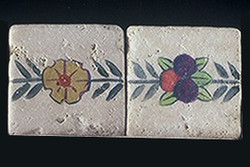 "Flower and Fruit 2""x2"" Border Tile"
