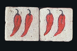 "Hot Chili 2""x2"" Border Tile"