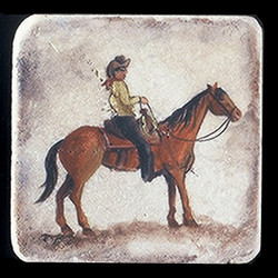 "Old Western #1 4""x4"" Deco Tile"