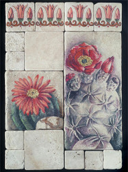 Cactus Stone Tile - Sampler Display
