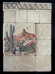 Southwest Stone Tile Display