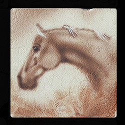 "Old Western #3 4""x4"" Deco Tile"