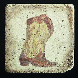 "Old Western #4 4""x4"" Deco Tile"