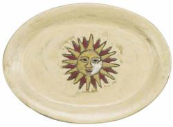 """Mara Oval Serving Platter 13"""" - Sun"""