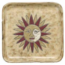 "Mara Square Plate 8"" - Sun"