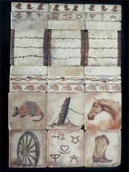 Western Stone Tile Display