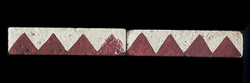 """Navajo Geo #1 Liner 1""""x4"""" Tile"""