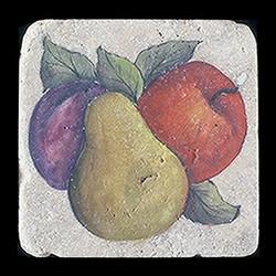 """Rustic Fruit 4""""x4"""" Deco Tile"""