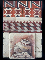 Indian Pottery #1 Stone Tile Display