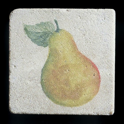 "Rustic Pear 4""x4"" Deco Tile"