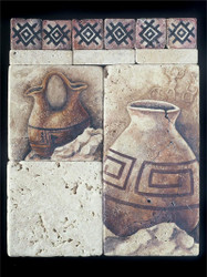 Wedding Pot/Cracked Pot Stone Tile - Sampler Display