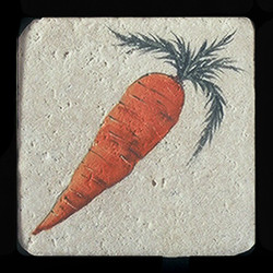 "Carrot 4""x4"" Deco Tile"