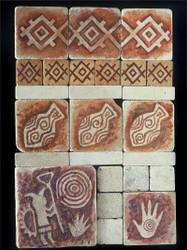 Petroglyph Stone Tile - Sampler Display