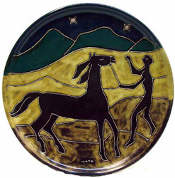 "Mara Platter 12"" - Horse / Men"