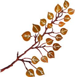 3-D Aspen Leaves