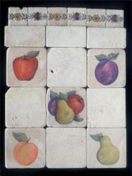 Mixed Fruit Stone Tile - Sampler Display