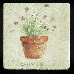"""Chives 4""""x4"""" Deco Tile"""