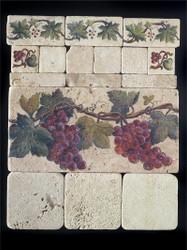 Grape Cluster #1 Stone Tile - Sampler Display