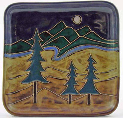 "Mara Salad Plate 8.5"" - Trees"
