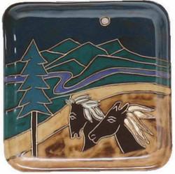 "Mara Salad Plate 8.5"" - Horses"