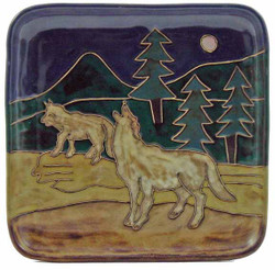 "Mara Salad Plate 8.5"" - Wolves"