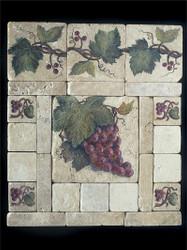 Grape Cluster #2 Stone Tile - Sampler Display