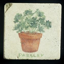 """Parsley 4""""x4"""" Deco Tile"""