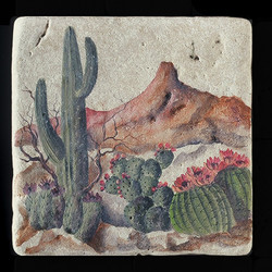"Desert Scene 8""x8"" Deco Tile"