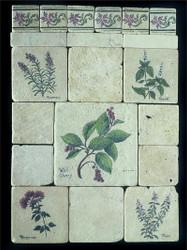 Herb Collage Stone Tile - Sampler Display
